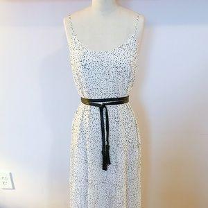ZOA Dainty Polka Dot Maxi Tiered Dress, S